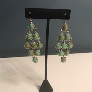 Fossil turquoise drop chandelier earrings